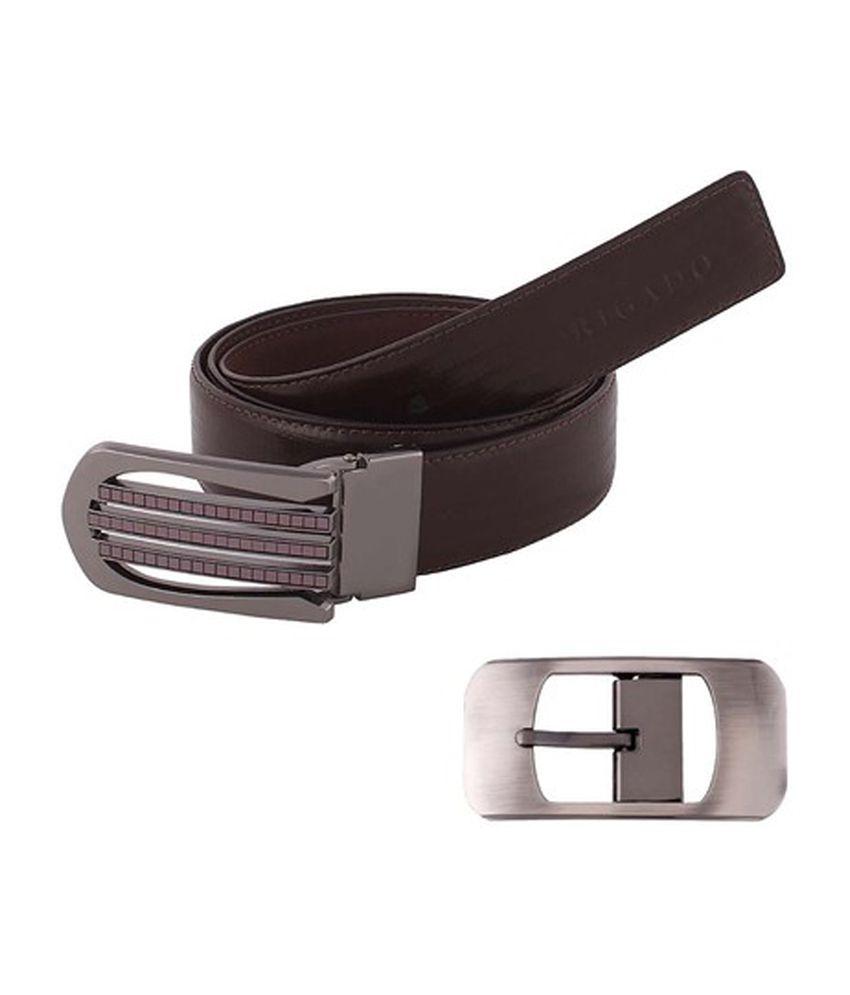 Rigado Brown Formal Wear Genuine Leather Belt