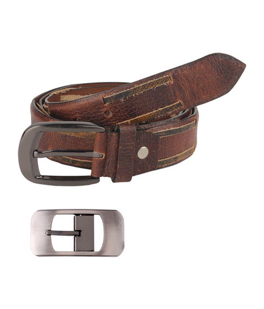 Rigado Brown Genuine Formal Leather Belt