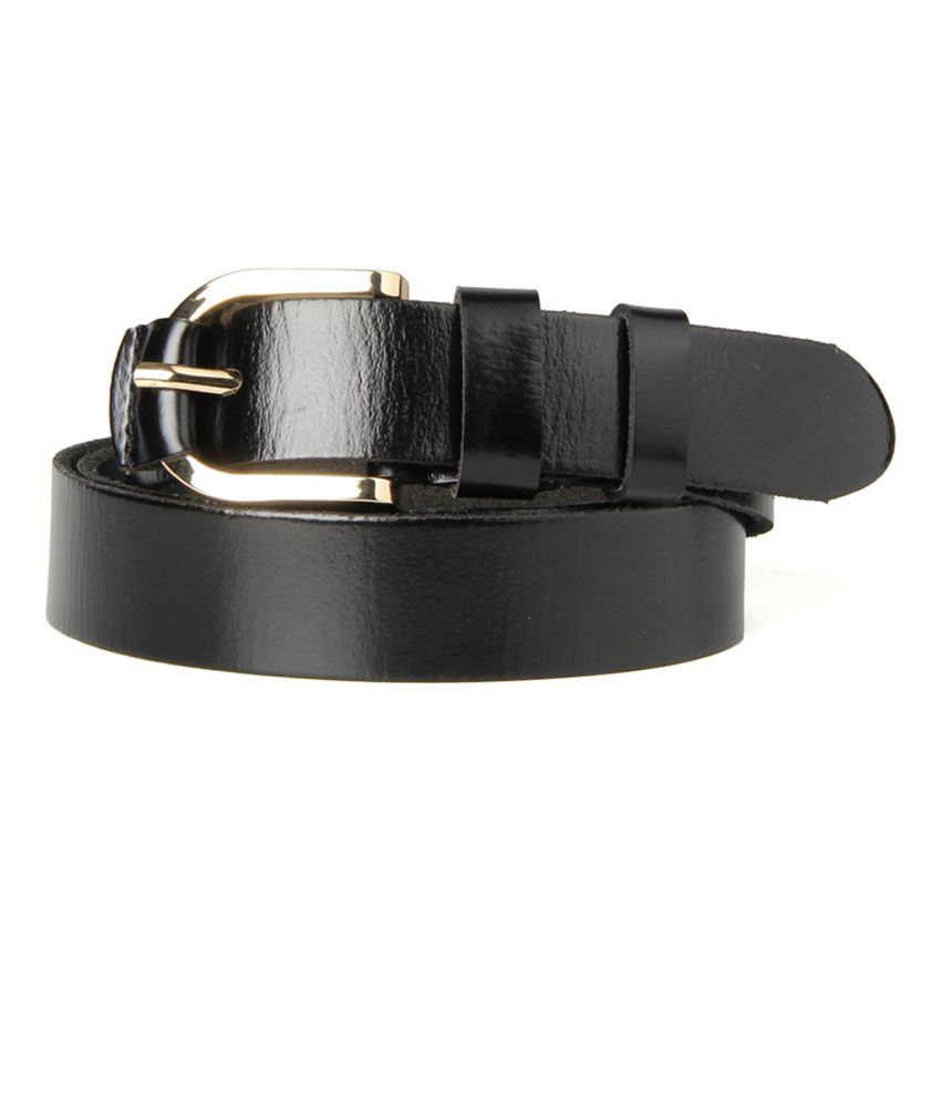 Guava Black Leather Single Formal Belt