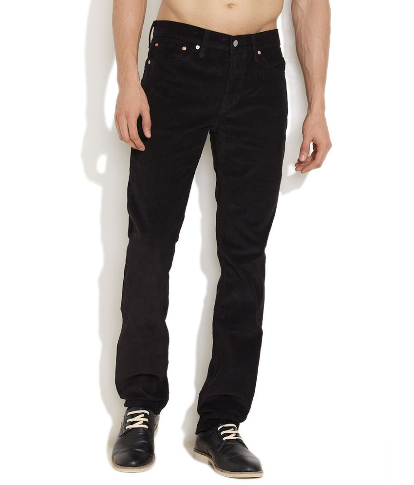 Levi's Black Essential Slim Fit Corduroy Pants