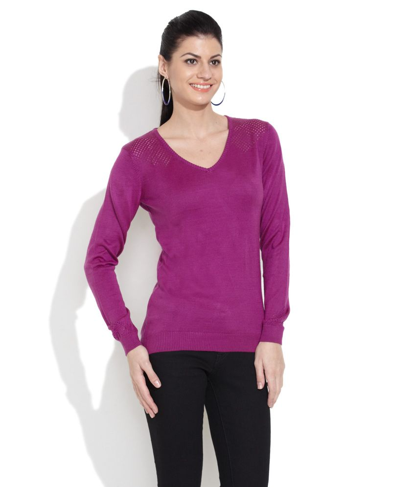Levi'S Purple Acrylic Pullovers