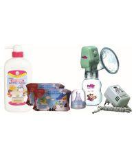 Farlin Feeding Bottle Cleaning Fluid-700ml+Mouth & Hand Wash+Electric Breast Pump