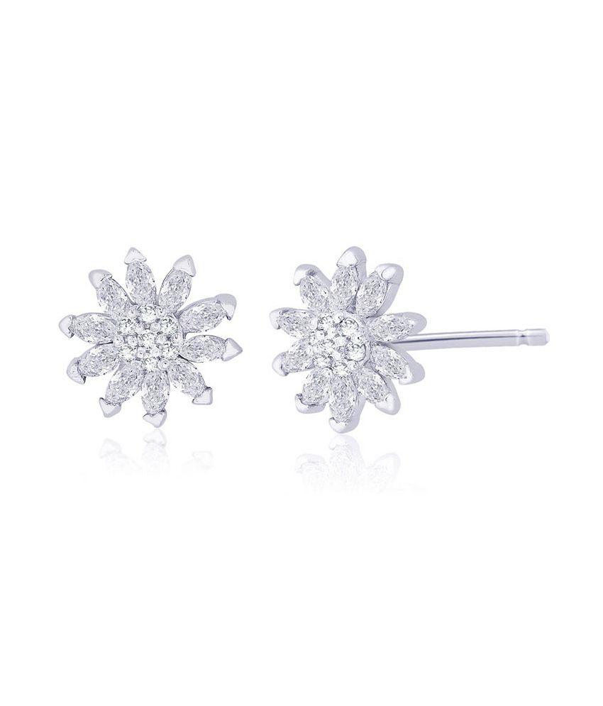 b8c7b2891 Taraash 92.5 Sterling Silver CZ Floral Necklace Set: Buy Taraash ...