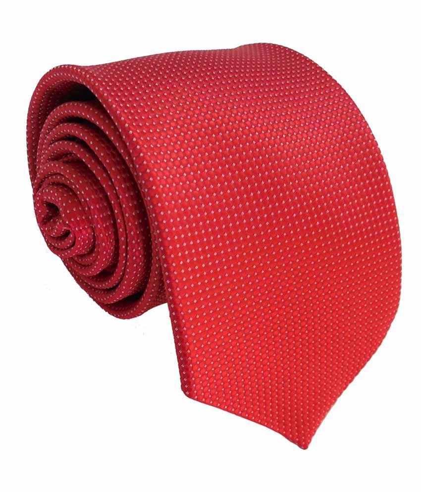 Yug Parivartan Red Micro Fiber Formal Premium Tie