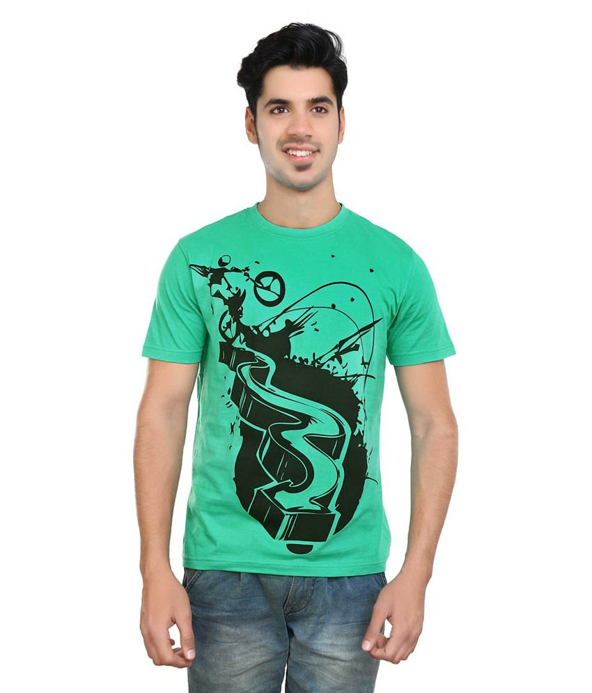 Algotton Green 100% Cotton T-shirt