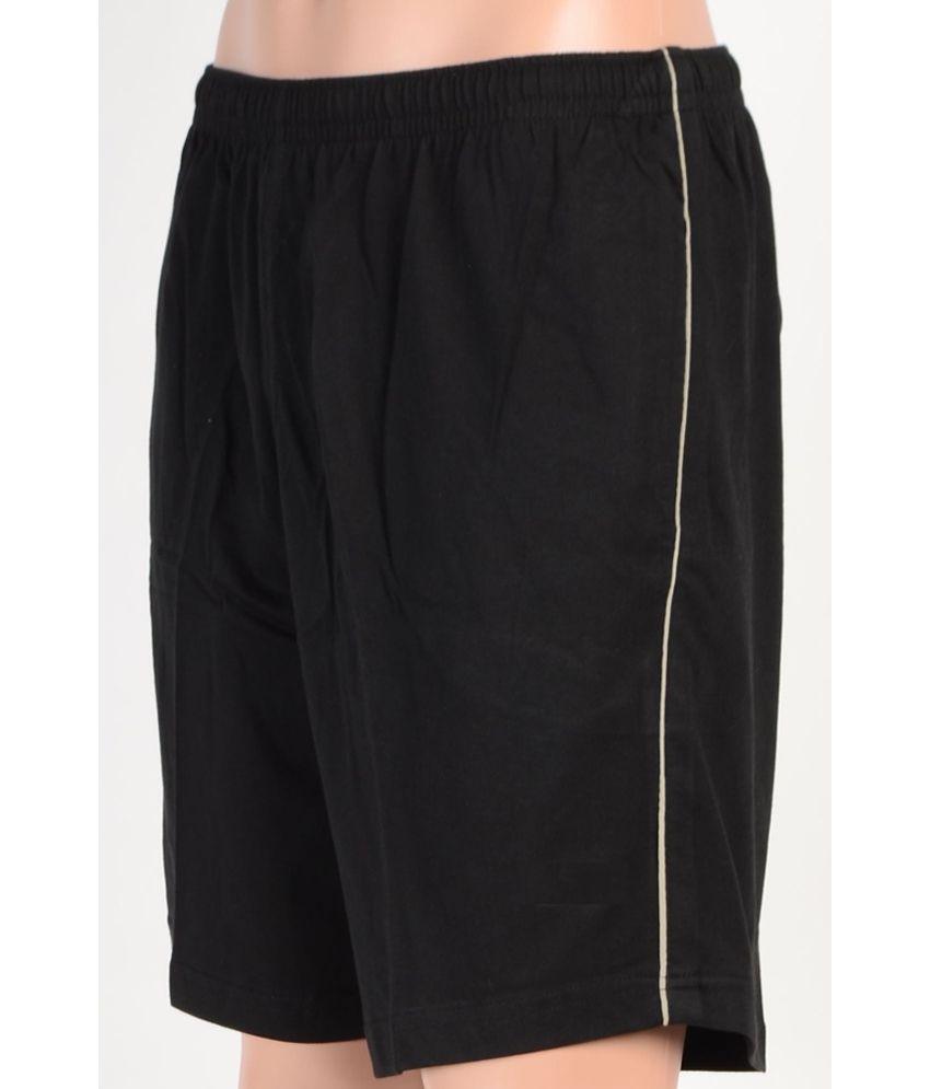 Gazelle Black Cotton Blend Shorts