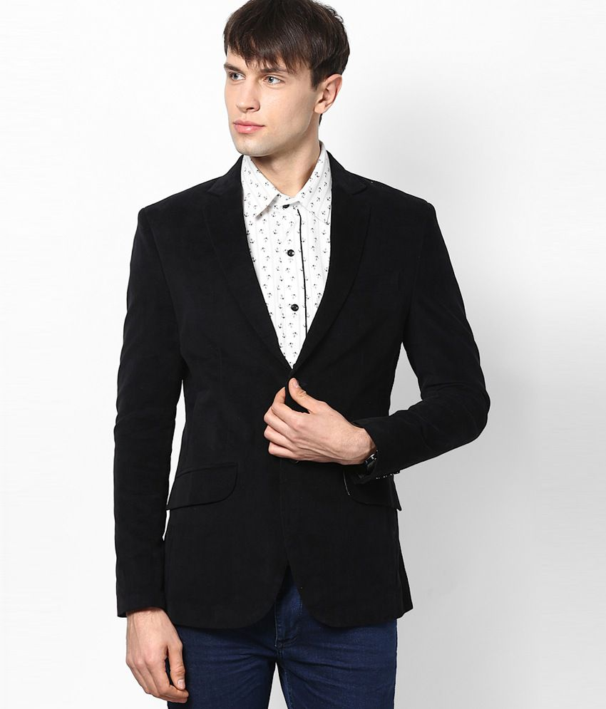 I Know Black Cordrouy Blazer