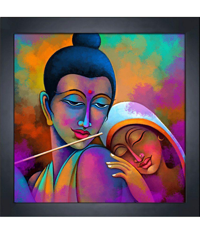 Art Factory Radha Krishna Canvas Painting: Buy Art Factory ...