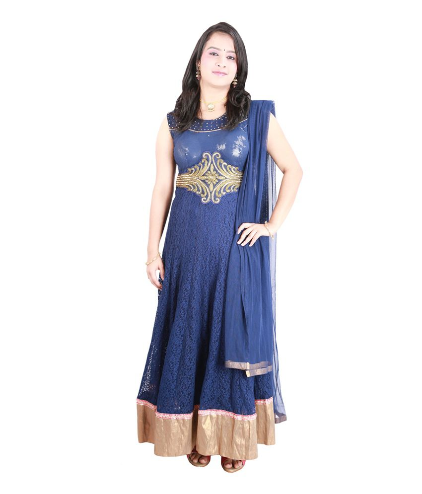 Dark Blue Color Anarkali Suit