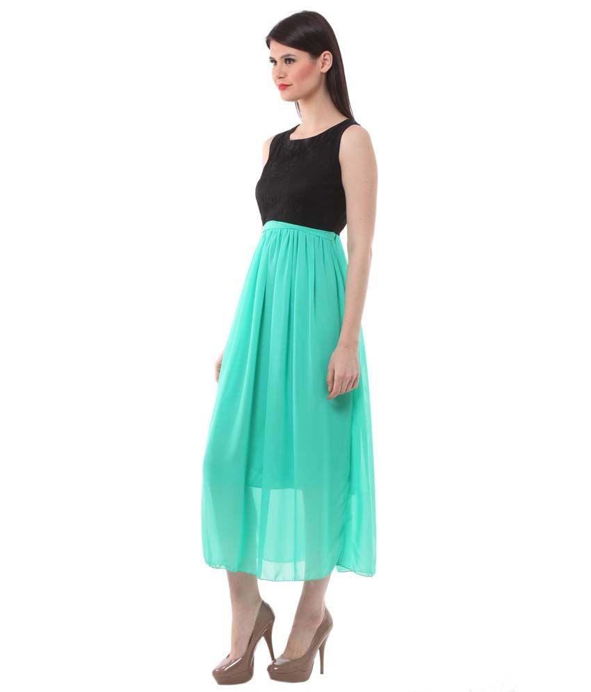 ce5bb034a5cd8 Eyelet Green Net Dresses - Buy Eyelet Green Net Dresses Online at ...