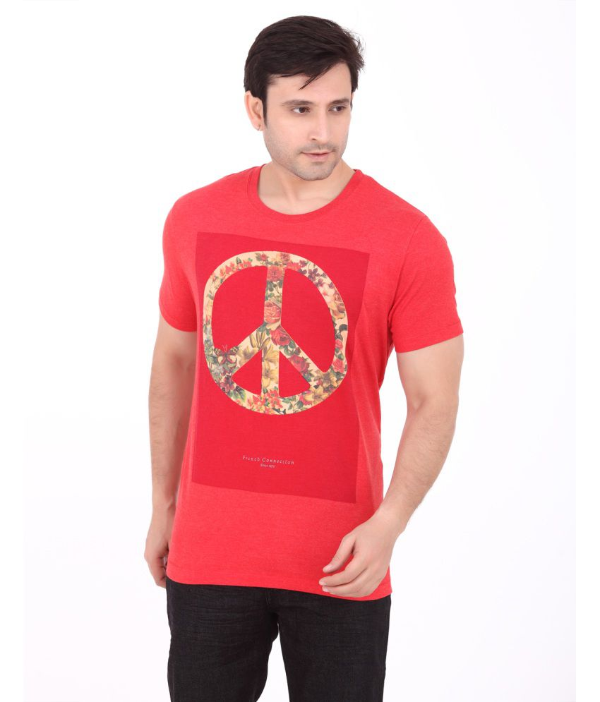 French Connection Mens Red T-shirt
