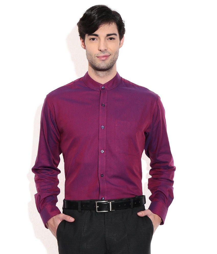 Raymond Purple Slim Fit Partywear Shirt - Buy Raymond Purple Slim ...