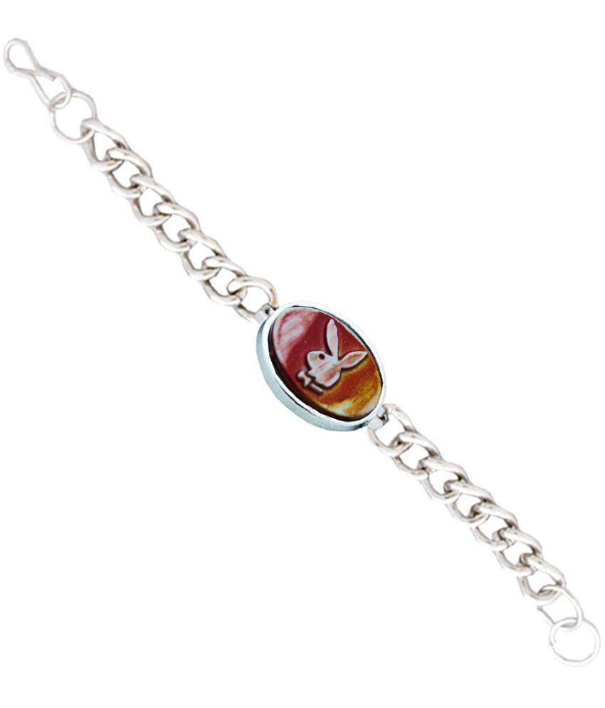 Rich & Famous Silver Alloy Adjustable Bracelet