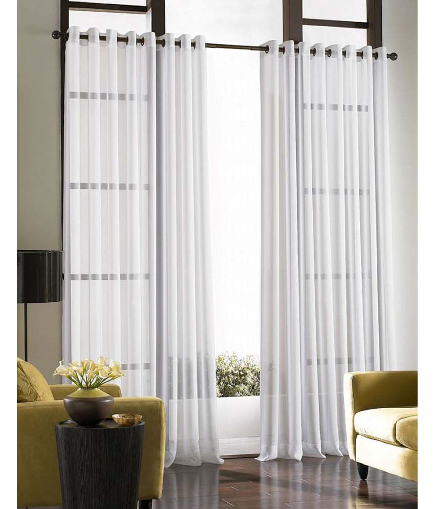 Curtains by maya designs single window sheer curtains for Single window design
