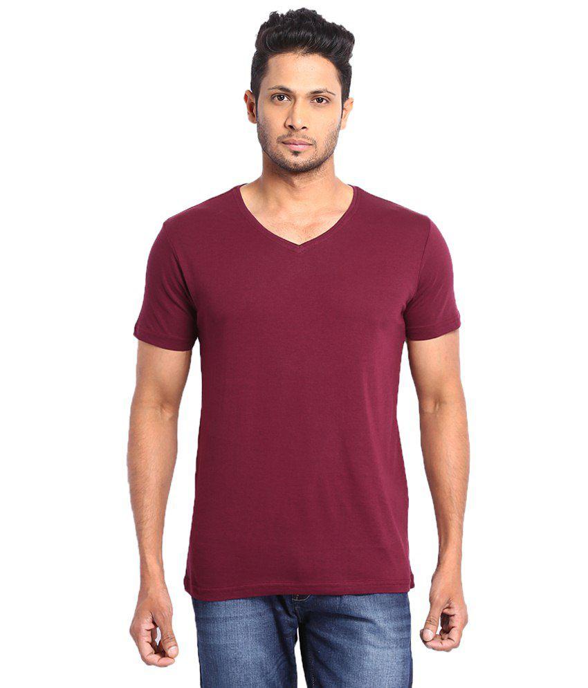 Highlander Maroon Cotton T shirt