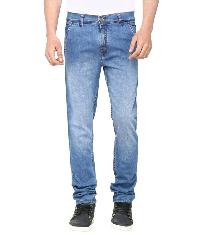 Savon Blue Slim Fit Cotton Jeans
