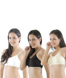 6ac999159d Quick View. Eve s Beauty Multi Color Cotton Bra Pack of 3. Rs. ...