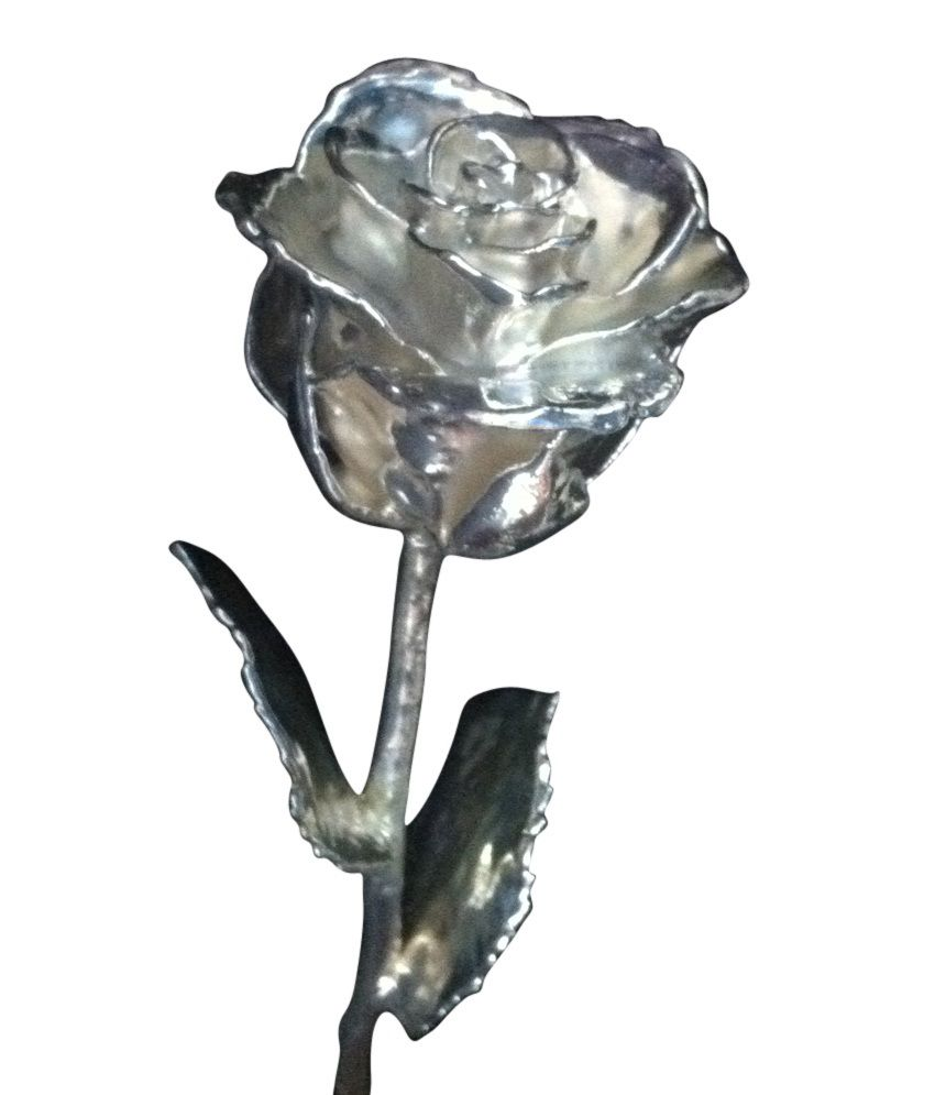 Siddhart Jewels Silver Rose Flower