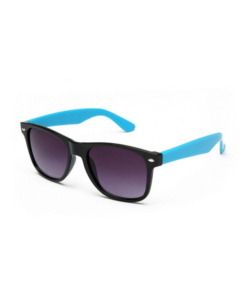 Fair-x Stylish Black Blue Wayfarer For Men & Women