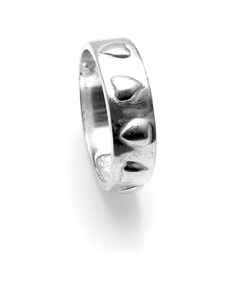 Jewel Craft Band 92.5 Silver Ring