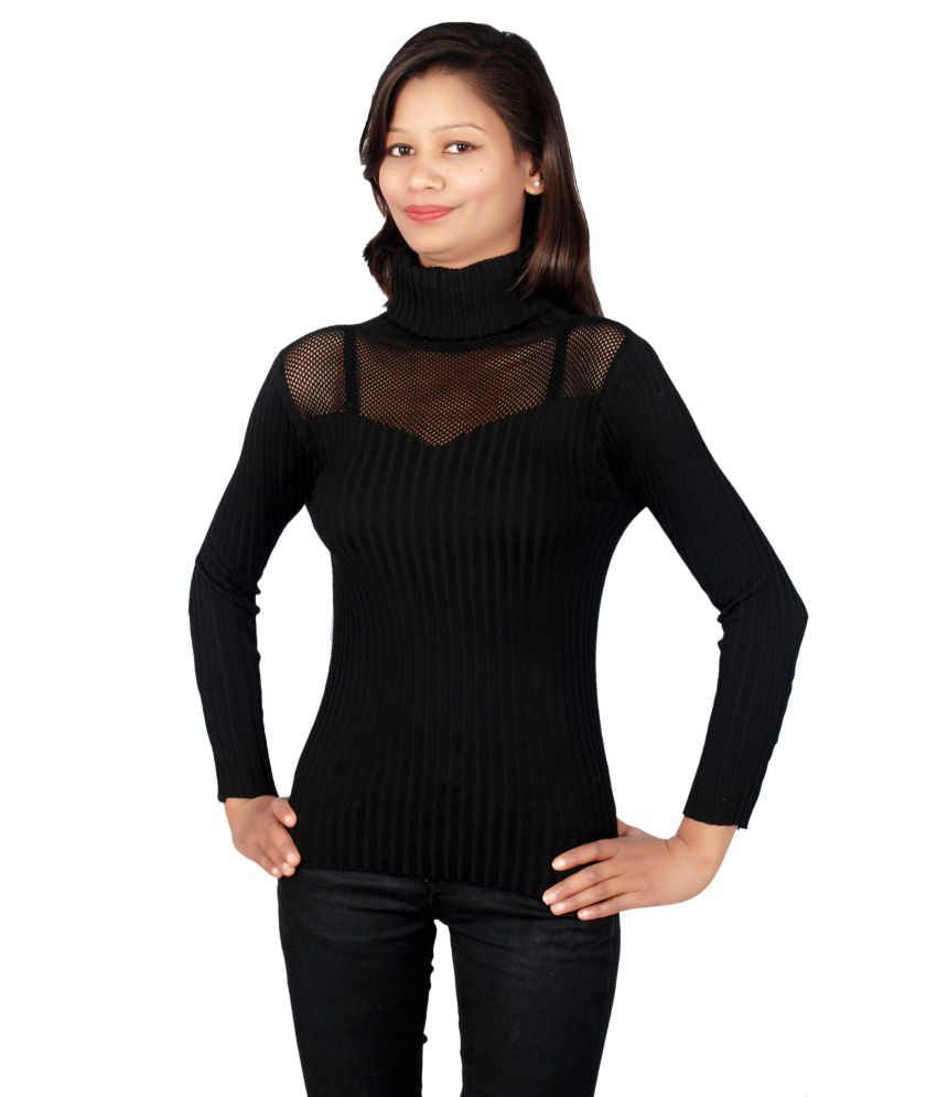 Sheezworld Black Woollen Tops Buy Sheezworld Black