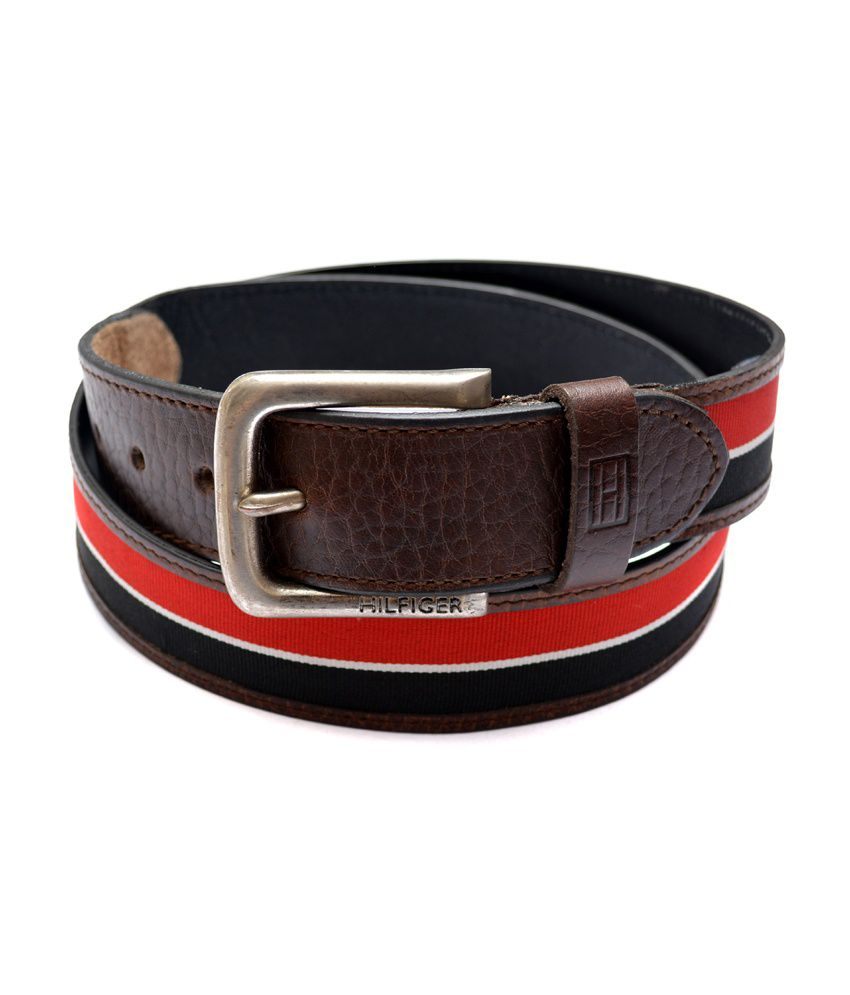 Tommy Hilfiger Multicolour Leather Pin Buckle Casual Men Belt