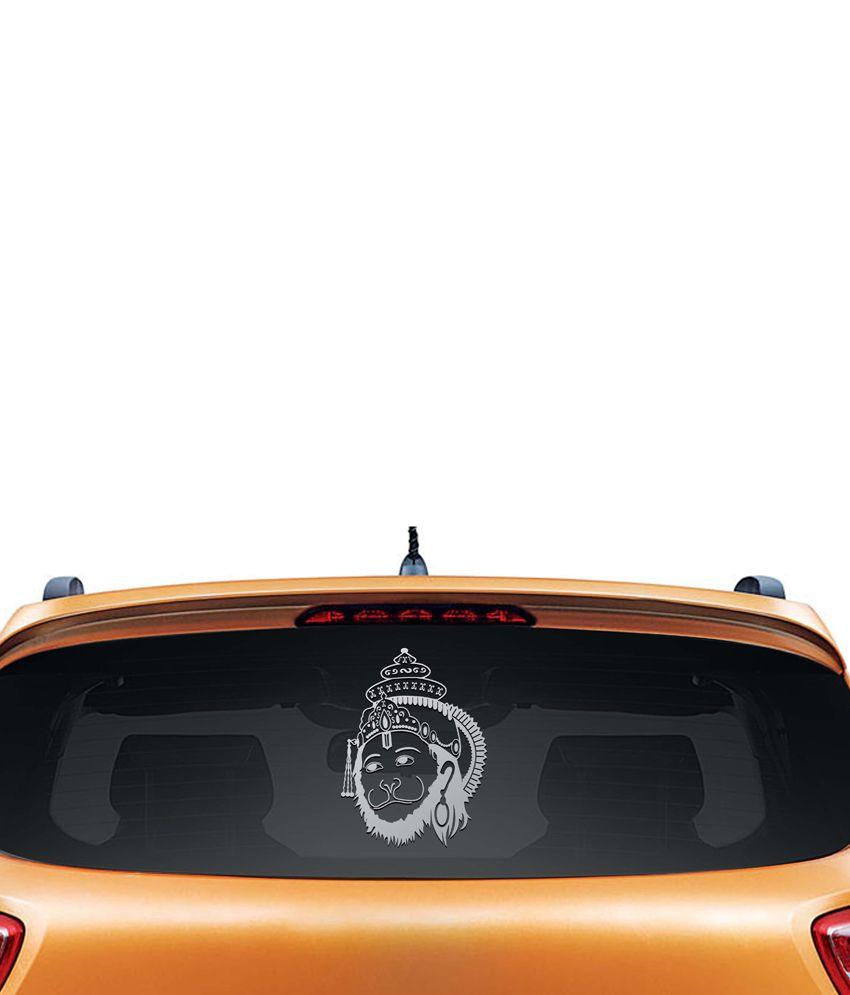 Car sticker design online india - Walldesign Hanuman Shining Car Sticker Silver