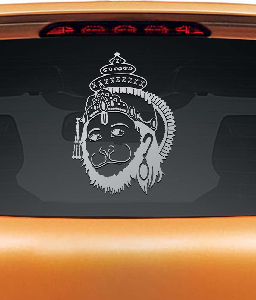 Car sticker design in india - Car Stickers Design India Walldesign Hanuman Shining Car Sticker Silver