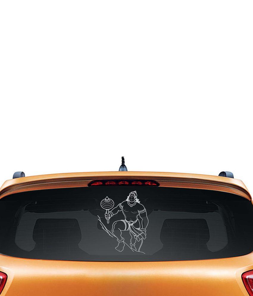 WallDesign Interior Styling In Car Sticker White