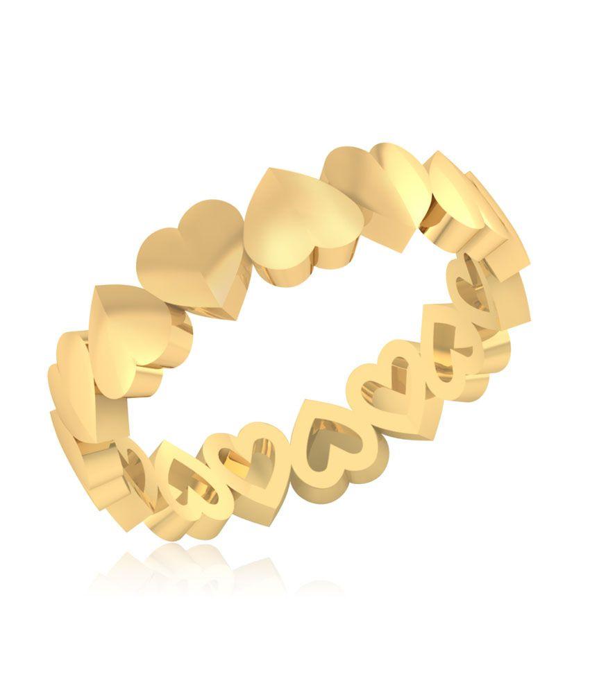 Iskiuski 14kt Gold Starlight Heart Ring