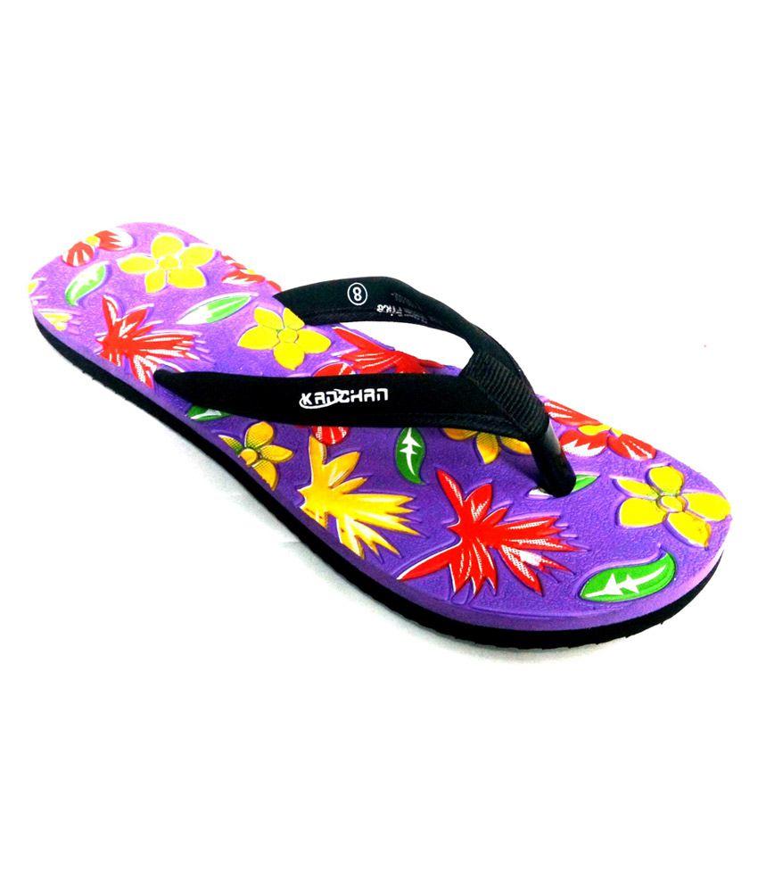 e4dd8507838 Kanchan Purple Synthetic Flat Flip Flops For Women Price in India- Buy  Kanchan Purple Synthetic Flat Flip Flops For Women Online at Snapdeal