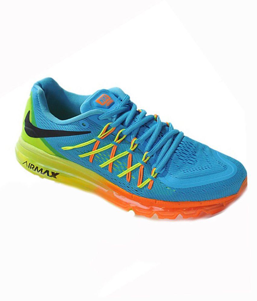 premium selection 1e381 96591 ... Nike Airmax 2015 Blue Mesh textile Running Sport Shoes ...