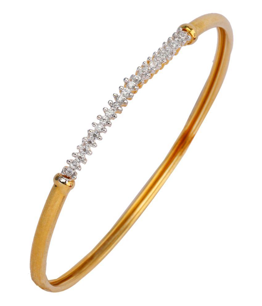 The jewelbox american diamond CZ classic eternity openable kada bangle bracelet