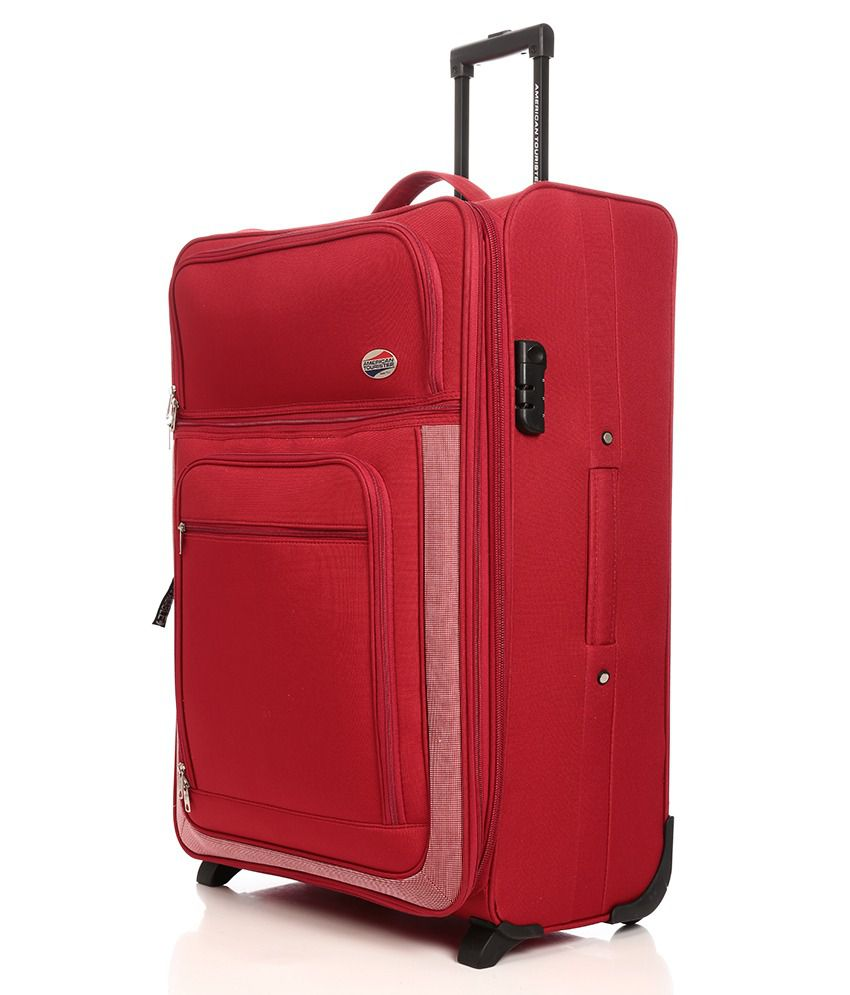 American Tourister Red 2 Wheel Trolley 74 Cm - Buy American ... 20b86f1b4