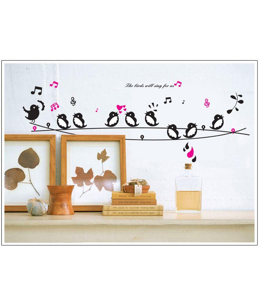 generic diy singing birds wall stickers vinyl decals art home decor buy generic diy singing. Black Bedroom Furniture Sets. Home Design Ideas