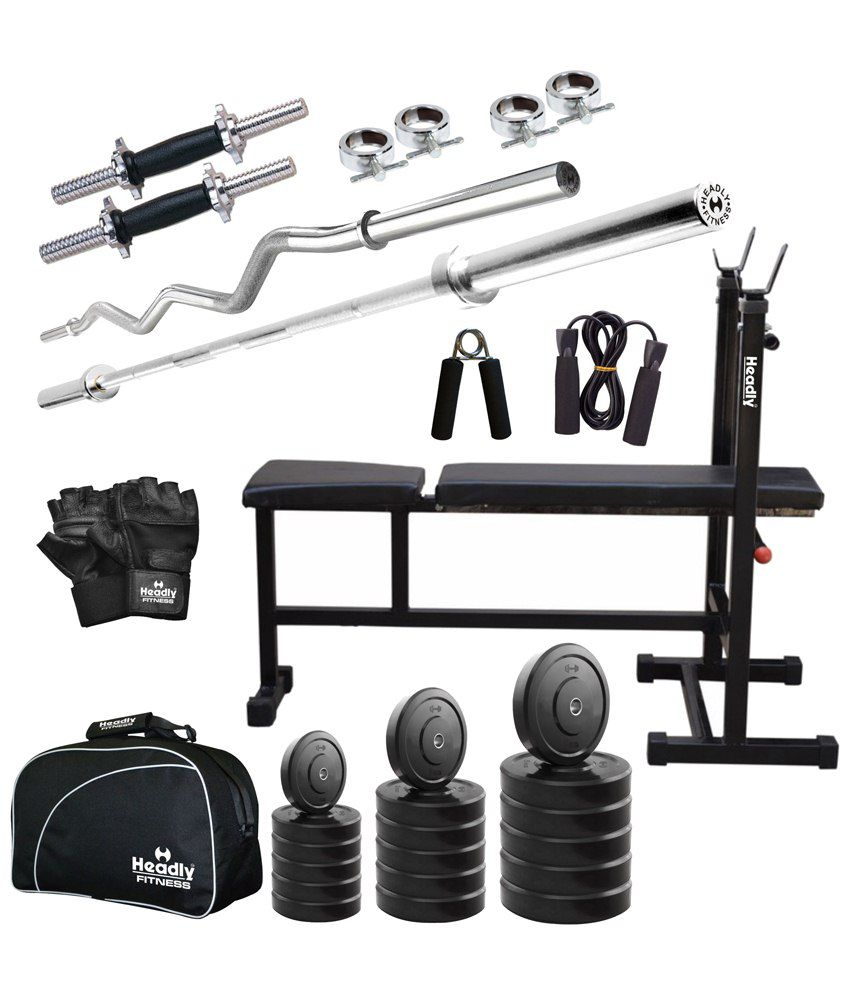 Headly kg total fitness home gym quot dumbbells
