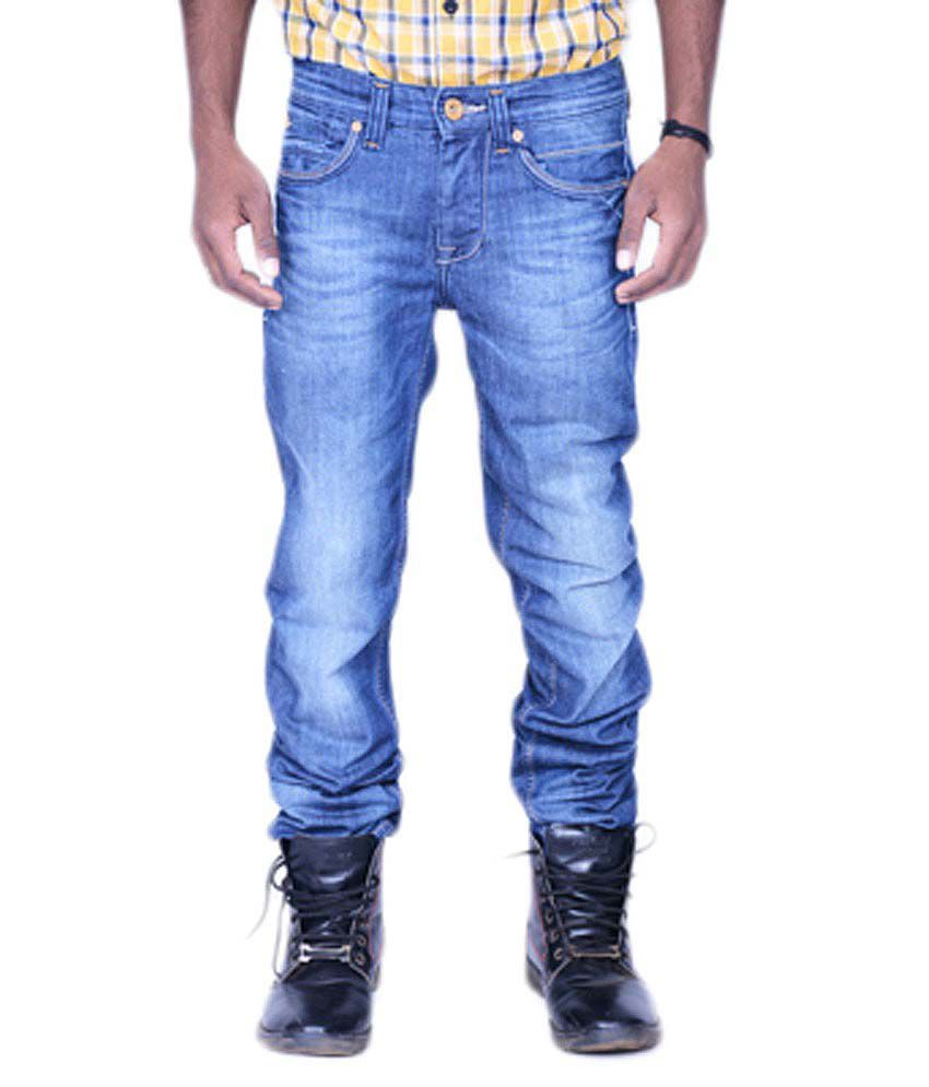 Killer Blue Cotton Blend Regular Basics Jeans