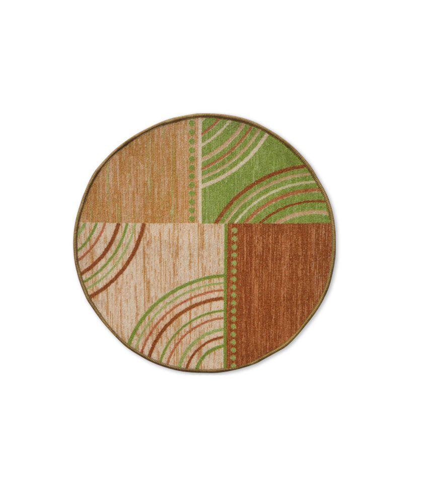 Status Multi-colour Printed Nylon Round Floor Mats