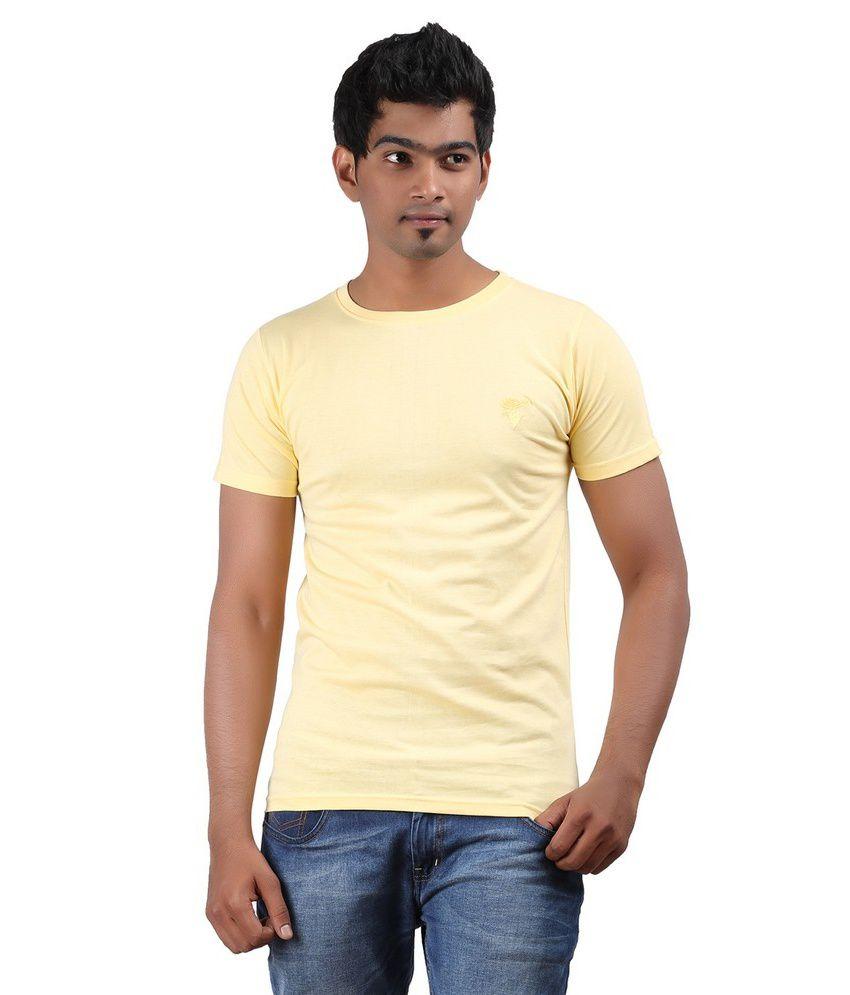 Top Brass Yellow Cotton T Shirt