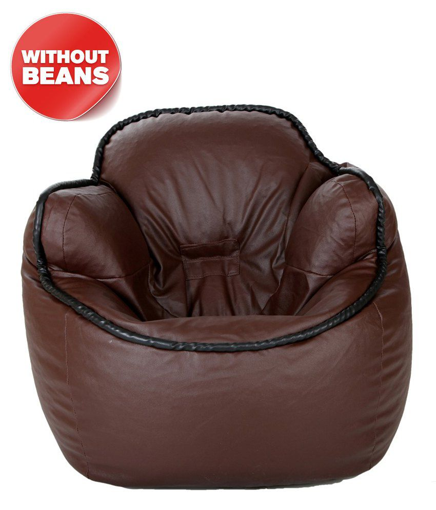 Biggie Bean Bag Bucket Chair Std Size Brown Sofa Chair