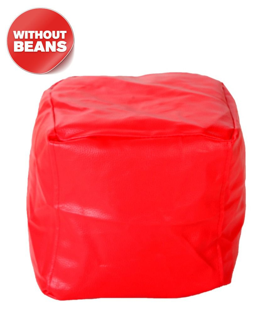 biggie bean bag puffy xxl size red only cover buy biggie bean bag puffy xxl size red only. Black Bedroom Furniture Sets. Home Design Ideas