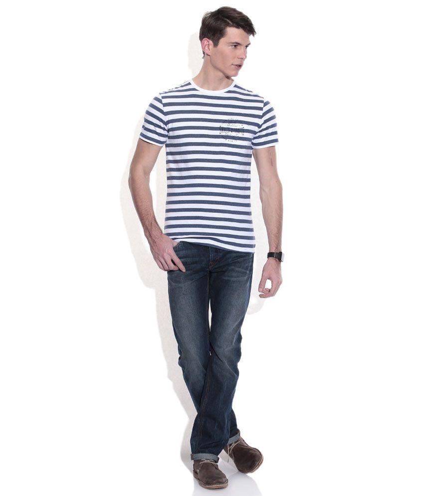 6256bb817c1 Celio Blue Straight Fit Jeans - Buy Celio Blue Straight Fit Jeans ...