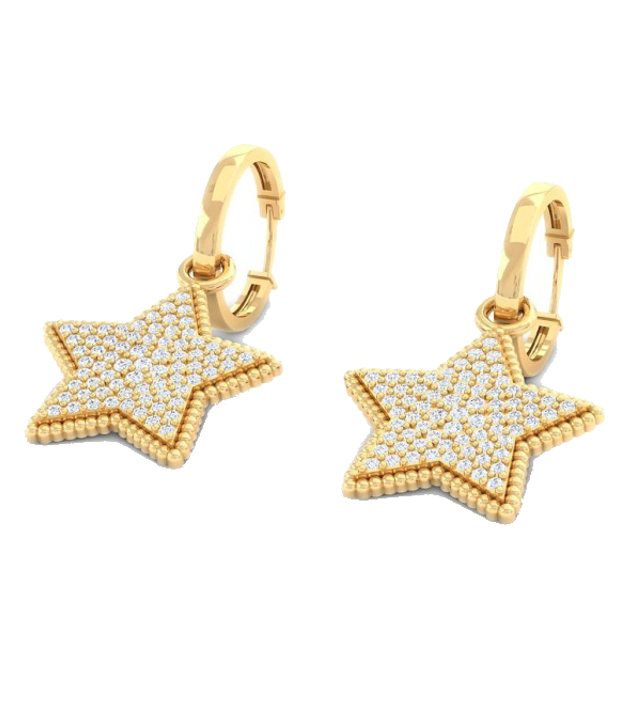 Kreeli 14k Yellow Gold Chara Diamond Earrings With D-f Vvs1 Diamond Quality