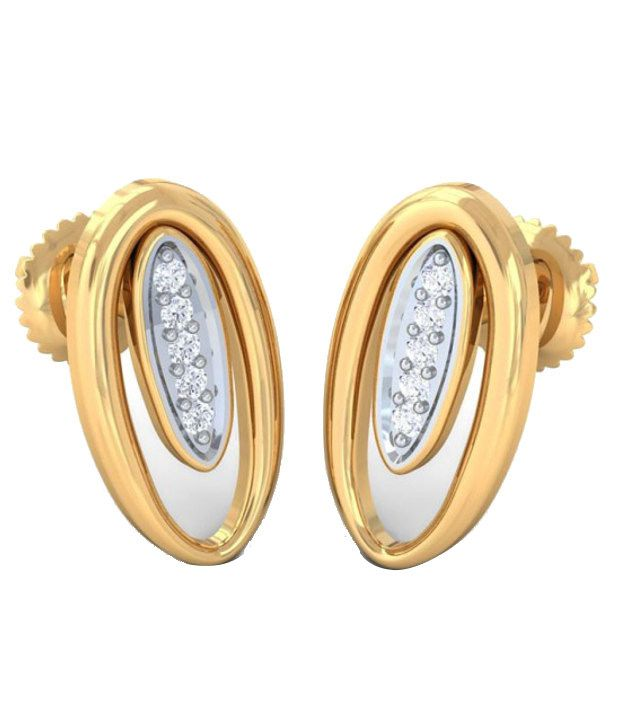 Kreeli 22k Yellow Gold Daisy Diamond Earrings With D-f Vs2 Diamond Quality