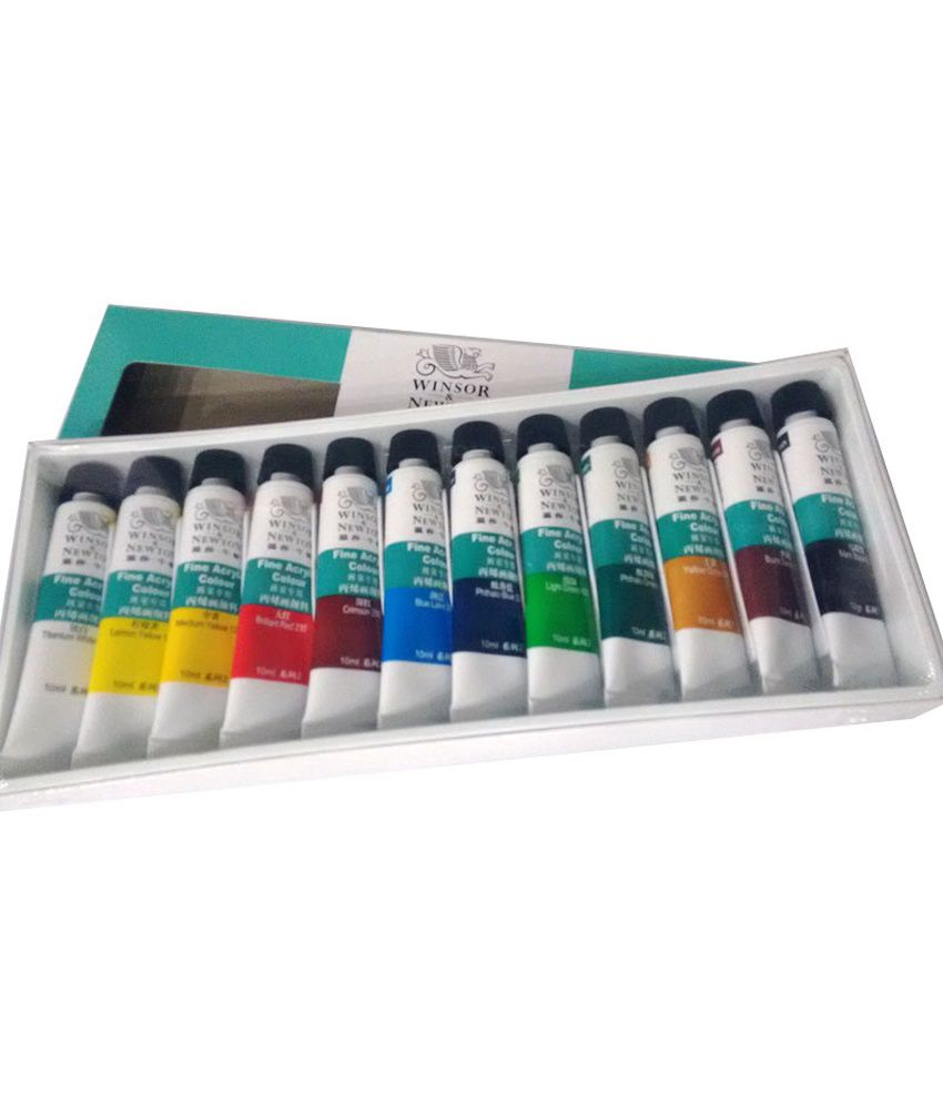 Food coloring online india - Winsor Newton 12 Fine Acrylic Colour Set