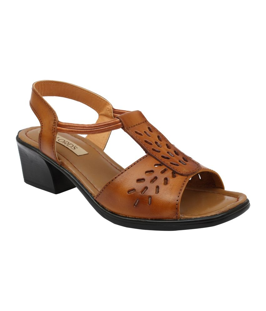 Lord's Brown Heeled Sandals