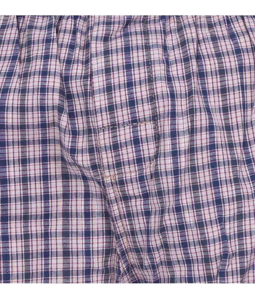 True Fashion Multicolour Cotton Checks Boxer Shorts - Pack Of 4