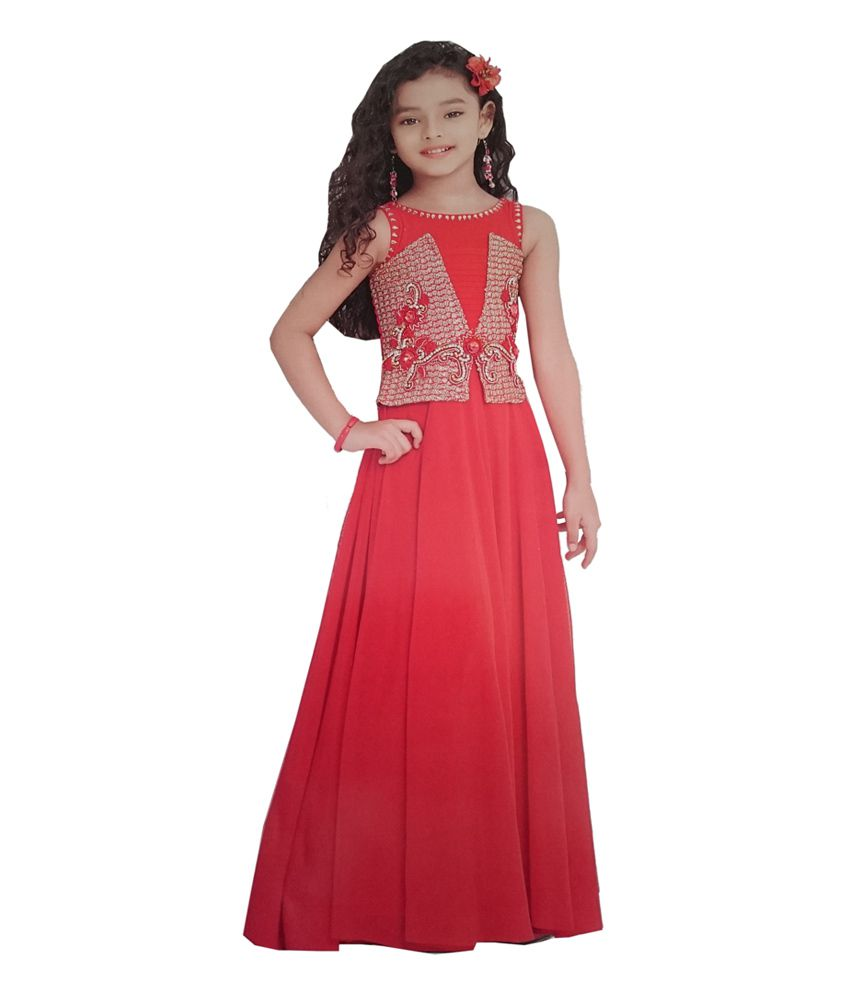 9d9c72d358e Child Club Red Party Wear Gown - Buy Child Club Red Party Wear Gown Online  at Low Price - Snapdeal