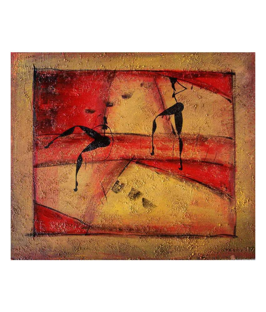 Elite Collection Digitally Printed Frameless Canvas Painting Abstract-0503