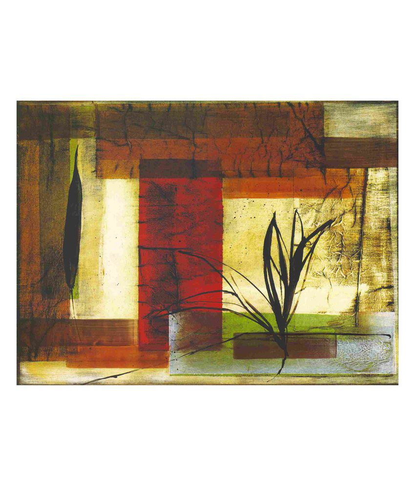 Elite Collection Digitally Printed Frameless Canvas Painting Abstract-0112